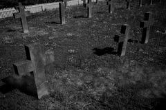 Lápides do cemitério Imagem de Stock