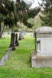 Lápides em um cemitério Foto de Stock Royalty Free