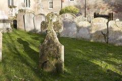 Lápides em um cemitério velho Fotos de Stock