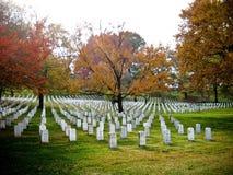 Lápides no cemitério nacional de Arlington Fotografia de Stock Royalty Free