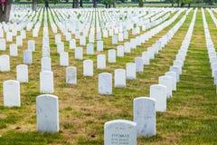 Lápides no nacional de Arlington Imagens de Stock Royalty Free