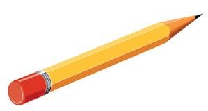 Lápis amarelo Fotos de Stock Royalty Free