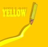 Lápis amarelo Imagens de Stock