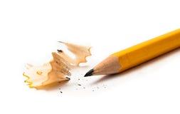 Lápis amarelo afiado foto de stock
