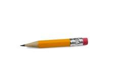 Lápis amarelo curto Imagens de Stock
