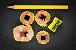 Lápis amarelo dos aparas Imagens de Stock Royalty Free