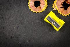 Lápis amarelo dos aparas Imagem de Stock