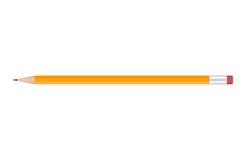 Lápis amarelo no fundo branco Ilustração do vetor Imagem de Stock
