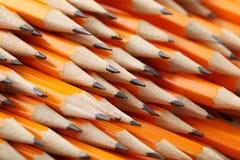Lápis amarelos Fotografia de Stock