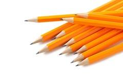 Lápis amarelos Fotografia de Stock Royalty Free