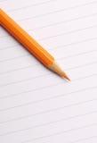 Lápis & letra fotografia de stock