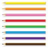 Lápis bonito isolado no fundo branco Lápis colorido do vetor em um fundo branco Imagens de Stock Royalty Free
