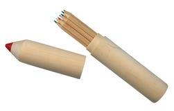 Lápis-caixa e lápis Fotografia de Stock Royalty Free