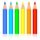 Lápis colorido ilustração do vetor