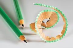 Lápis colorido com aparas Imagem de Stock