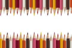 Lápis colorido como o fundo branco Fotografia de Stock