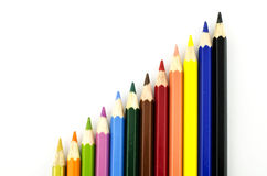 Lápis colorido do gráfico Fotos de Stock Royalty Free