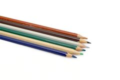 Lápis colorido isolado Foto de Stock Royalty Free