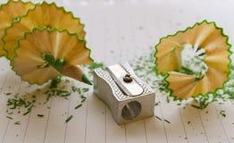Lápis colorido no fundo branco Foto de Stock