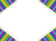Lápis colorido no fundo branco Fotos de Stock