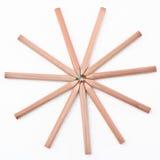 Lápis colorido que vem junto Foto de Stock Royalty Free