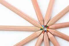 Lápis colorido que vem junto Imagem de Stock Royalty Free