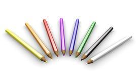 Lápis coloridos ilustração do vetor
