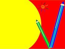 Lápis coloridos Fotografia de Stock Royalty Free