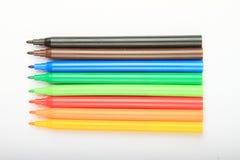 Lápis coloridos abertos imagem de stock royalty free