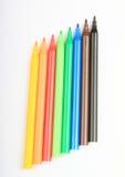 Lápis coloridos abertos imagens de stock royalty free