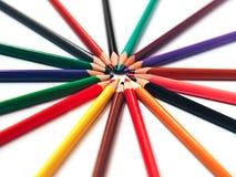 Lápis coloridos abstratos para o fundo foto de stock royalty free