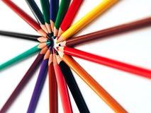 Lápis coloridos abstratos para o fundo fotografia de stock
