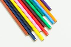 Lápis coloridos alinhados Imagem de Stock Royalty Free