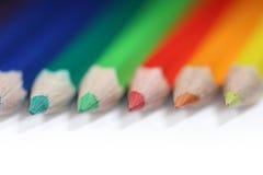 Lápis coloridos, baixo DOF imagem de stock royalty free
