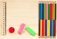 Lápis coloridos brilhantes Fotografia de Stock Royalty Free