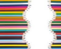 Lápis coloridos com sombra Fotos de Stock Royalty Free