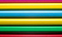 Lápis coloridos, conceito da instrução Fotografia de Stock Royalty Free