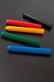 Lápis coloridos da cera Imagens de Stock Royalty Free