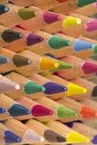 Lápis coloridos de várias cores, fim acima Imagem de Stock Royalty Free