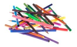 Lápis coloridos e marcadores - isolados Fotos de Stock Royalty Free