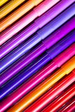 Lápis coloridos em seguido Fotos de Stock Royalty Free