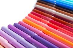 Lápis coloridos em seguido Imagens de Stock Royalty Free
