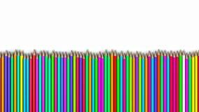 Lápis coloridos em seguido, uma pilha de lápis fotografia de stock royalty free