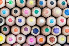 Lápis coloridos em uma fileira Imagem de Stock Royalty Free