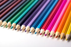 Lápis coloridos fotografia de DSLR Fotos de Stock Royalty Free