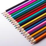 Lápis coloridos fotografia de DSLR Fotografia de Stock