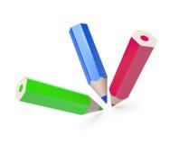 Lápis coloridos isolados Imagem de Stock Royalty Free