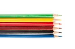 Lápis coloridos isolados no fundo branco Imagem de Stock Royalty Free