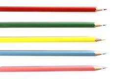 Lápis coloridos isolados no fundo branco Fotos de Stock Royalty Free