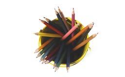Lápis coloridos isolados no fundo branco Foto de Stock